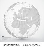 abstract dotted globe earth | Shutterstock .eps vector #1187140918