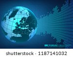 abstract technology background... | Shutterstock .eps vector #1187141032