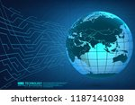 abstract technology background... | Shutterstock .eps vector #1187141038