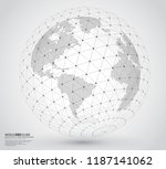 three dimensional dotted world... | Shutterstock .eps vector #1187141062