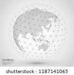 three dimensional dotted world... | Shutterstock .eps vector #1187141065