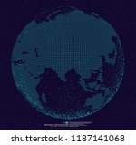 3d dotted globe abstract... | Shutterstock .eps vector #1187141068