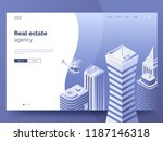 real estate agency header for... | Shutterstock .eps vector #1187146318