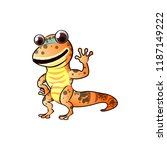 happy and frendly gecko  | Shutterstock .eps vector #1187149222