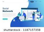 modern flat design concept of... | Shutterstock .eps vector #1187157358