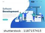 modern flat design concept of... | Shutterstock .eps vector #1187157415