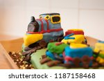Small photo of Train Birthday Cake