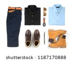 men's casual outfits for man... | Shutterstock . vector #1187170888