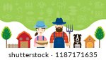 couple of farmers characters... | Shutterstock .eps vector #1187171635