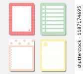 design elements for notebook ... | Shutterstock .eps vector #1187174695