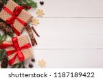 new year presents with cookies... | Shutterstock . vector #1187189422
