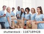 food sorting. group of... | Shutterstock . vector #1187189428
