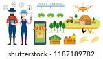 smart farmer and farming... | Shutterstock .eps vector #1187189782