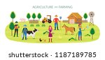 farmer  agriculture and farming ... | Shutterstock .eps vector #1187189785