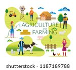 farmer  agriculture and farming ... | Shutterstock .eps vector #1187189788