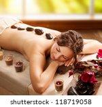 spa. stone massage. day spa.... | Shutterstock . vector #118719058