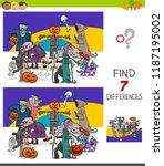 cartoon illustration of finding ... | Shutterstock .eps vector #1187195002
