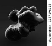 abstract form. 3d illustration  ...   Shutterstock . vector #1187196118