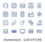 computer components set vector... | Shutterstock .eps vector #1187197198