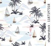 beautiful botanical vector...   Shutterstock .eps vector #1187197318