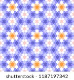 stars and hexagons pattern  ... | Shutterstock .eps vector #1187197342