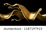 elegant  luxury splash of gold... | Shutterstock . vector #1187197915
