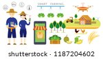 thailand smart farmer and... | Shutterstock .eps vector #1187204602
