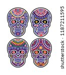 holy death  day of the dead ... | Shutterstock .eps vector #1187211595