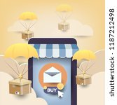 e mail marketing promotion from ... | Shutterstock .eps vector #1187212498
