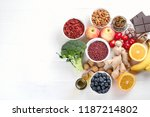 food sources of natural... | Shutterstock . vector #1187214802