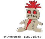 halloween spooky voodoo sack... | Shutterstock .eps vector #1187215768