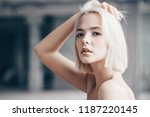 close up portrait of a... | Shutterstock . vector #1187220145