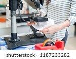 faceless shot of woman printing ... | Shutterstock . vector #1187233282
