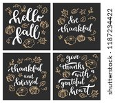 hello fall. thankful and... | Shutterstock .eps vector #1187234422