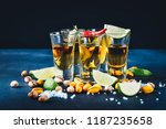 aperitif with friends in the... | Shutterstock . vector #1187235658
