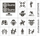 set of 13 people filled icons... | Shutterstock .eps vector #1187239498