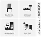 set of 4 editable furnishings...