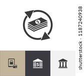 set of 4 editable banking icons....