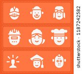 set of 9 social filled icons... | Shutterstock .eps vector #1187242582