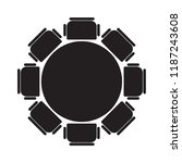 round table and chairs icon ... | Shutterstock .eps vector #1187243608