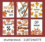 autumn sale card  illustration. ... | Shutterstock .eps vector #1187246575