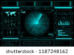 radar control panel abstract... | Shutterstock .eps vector #1187248162