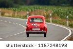 Red Vintage Micro Car ...