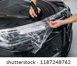 car wrapping specialist putting ... | Shutterstock . vector #1187248762