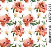 watercolor seamless pattern...   Shutterstock . vector #1187249035