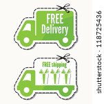 free delivery  free shipping... | Shutterstock .eps vector #118725436