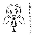 cartoon woman furious kawaii... | Shutterstock .eps vector #1187255725
