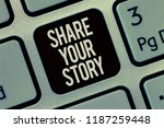 writing note showing share your ...   Shutterstock . vector #1187259448