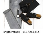 men's casual outfits for man... | Shutterstock . vector #1187261515