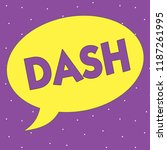 text sign showing dash....   Shutterstock . vector #1187261995